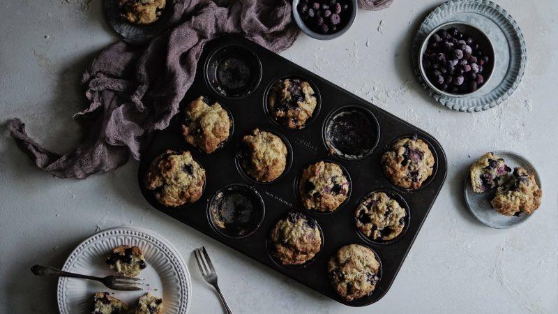 Perfekte Blaubeer-Muffins | vegan